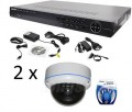 Pakke HD-SDI DVR og 2 HD dome-kameraer